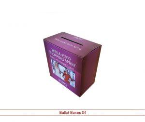 clear ballot box