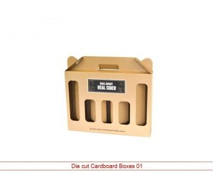 die cut cardboard boxes