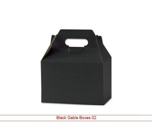Custom Black Gable Boxes New York