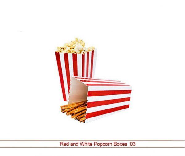 Red and White Popcorn Box