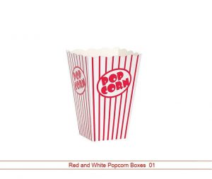 Red and White Popcorn Boxes