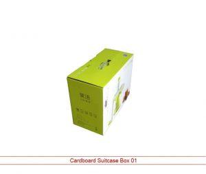 cardboard suitcase box
